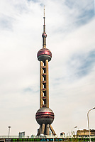 Shanghai, China - April 7, 2013: Oriental Pearl Tower skyscrapers building pudong Shanghai China
