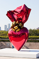 sacred heart at Jeff Koons on the Roof of Metropolitan Museum of Art in New York City in October 2008