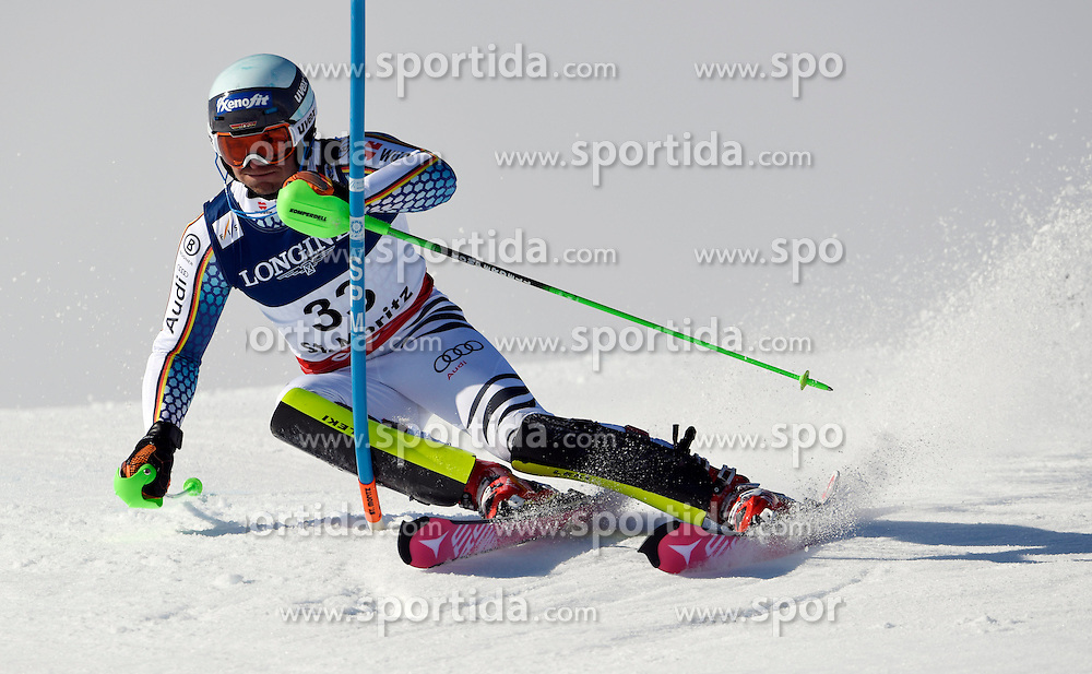 13.02.2017, St. Moritz, SUI, FIS Weltmeisterschaften Ski Alpin, St. Moritz 2017, alpine Kombination, Herren, Slalom, im Bild Andreas Sander (GER) // Andreas Sander of Germany in action during his run of Slalom competition for the men's Alpine combination of the FIS Ski World Championships 2017. St. Moritz, Switzerland on 2017/02/13. EXPA Pictures &copy; 2017, PhotoCredit: EXPA/ Sammy Minkoff<br /> <br /> *****ATTENTION - OUT of GER*****