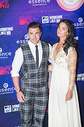 Kate Thorne; James Tindale.<br /> Red carpet at the MTV EMA, Glasgow.