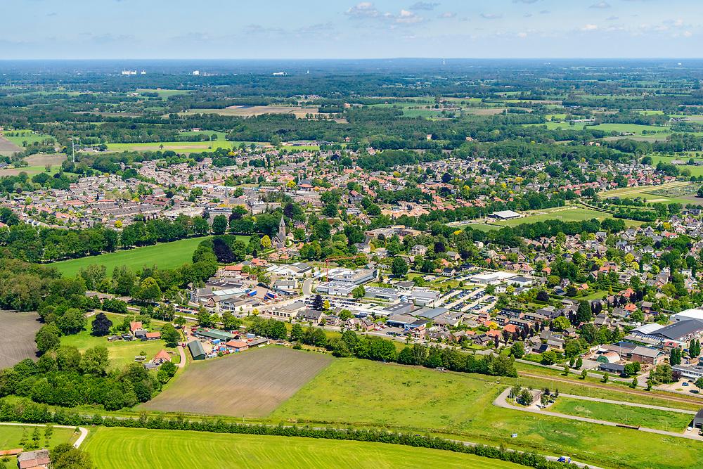 Nederland, Gelderland, Gemeente Berkelland, 29-05-2019; Achterhoek met overzicht dorp Ruurlo.<br /> Overview village Ruurlo.<br /> <br /> luchtfoto (toeslag op standard tarieven);<br /> aerial photo (additional fee required);<br /> copyright foto/photo Siebe Swart