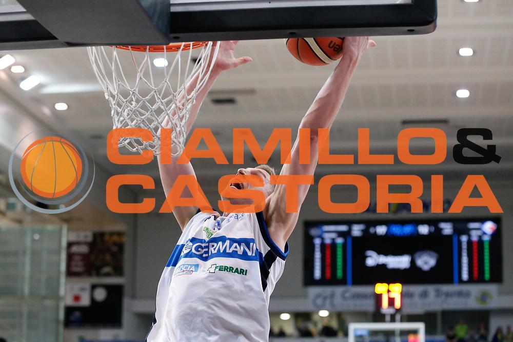 Berggren jared<br /> Dolomiti Energia Aquila Basket Trento - Germani Basket Brescia Leonessa<br /> Lega Basket Serie A 2016/2017<br /> PalaTrento, 23/04/2017<br /> Foto Ciamillo-Castoria / M. Brondi
