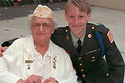 Grandma and Grandson age 80 and 21 together at Vietnam Wall on Memorial Day. St Paul Minnesota USA