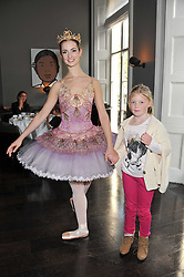 Ballerina TESS BUCK and GEORGIA WILLIAMS at a children's tea party for the English National Ballet hosted by Mortons Private Members Club, Berkeley Square, London on 20th October 2011.