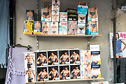 shelf with boys and men underwear Napels at the Via Sanita outdoors market