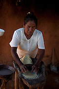 Mayo, indian, Making tortillas, Capomas Indian Village, El Fuerte, Sinaloa, Mexico