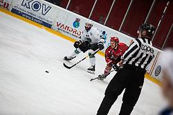 Urban SODJA vs David PLANKO during First league between HDD Acroni Jesenice vs HK SZ Olimpia, on April 23, 2019 in Jesenice, Slovenia. Photo by Peter Podobnik / Sportida