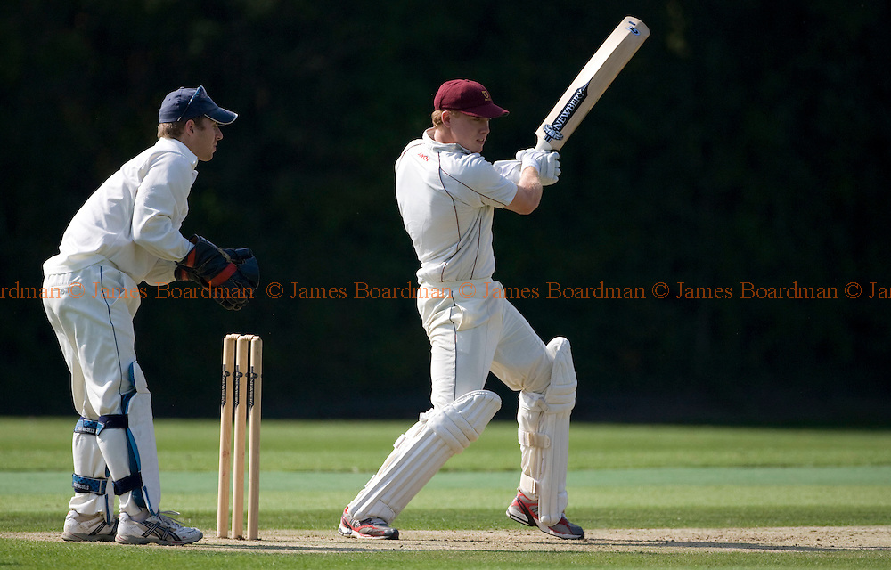 JAMES BOARDMAN / 07967642437.Michael Gould of Preston Nomads batting during the Sussex 1st XI Premier League match between Preston Nomads and Hastings & St Leonards at Fulking August 8, 2009