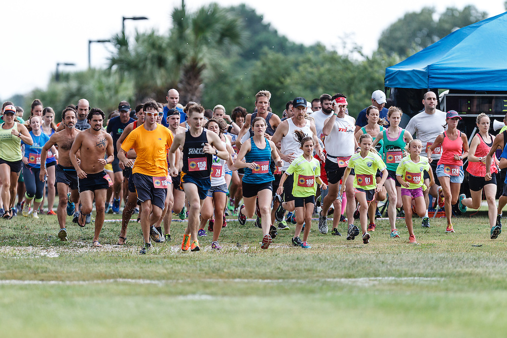 Images from the wet, rainy third race in the 2015 Daniel Island Happy Hour 5k series near Charleston, South Carolina.