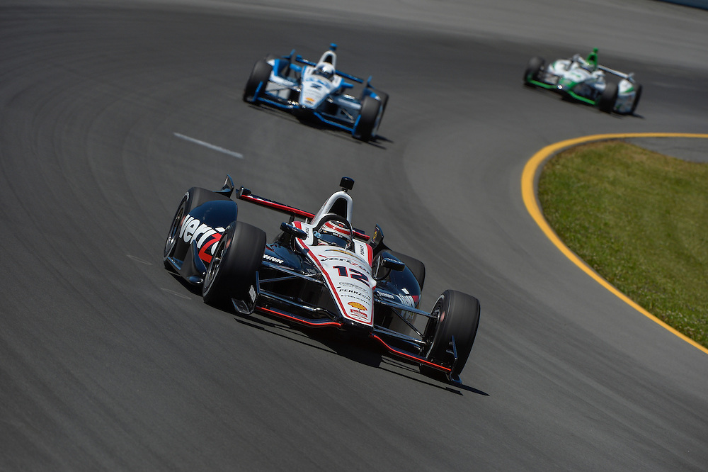 Will Power, Juan Pablo Montoya, Pocono Raceway, USA 7/6/2014