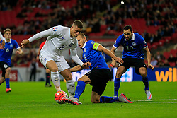 Fabian Delph of England in an early England attack - Mandatory byline: Jason Brown/JMP - 07966 386802 - 09/10/2015- FOOTBALL - Wembley Stadium - London, England - England v Estonia - Euro 2016 Qualifying - Group E
