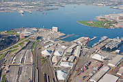 Port of Baltimore, Maryland aerial photograph of CNX Rukert terminal