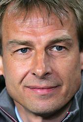 Under pressure, Bayern Munich manager Jurgen Klinsmann before the UEFA Champions League quarter final first leg match between FC Barcelona and FC Bayern Munich at the Camp Nou stadium on April 8, 2009 in Barcelona, Spain.
