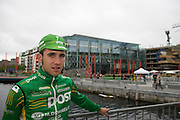 Mark Cassidy, from Dunboyne, Co. Meath, riding for An Post Sean Kelly team at the Tour of Ireland Stage 1, Grand Canal Square, Dublin 2