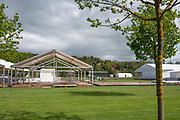 Henley on Thames. United Kingdom.   2018 Henley Royal Regatta, Henley Reach. <br />   <br /> Course Construction. General View. Frame Tent being constructed.<br /> <br /> Wednesday  25/04/2018<br /> <br /> [Mandatory Credit: Peter SPURRIER:Intersport Images]<br /> <br /> LEICA CAMERA AG  LEICA Q (Typ 116)  f8  1/400sec  35mm  42.7MB