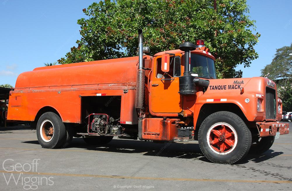 Vintage Mack fire truck still in front line service Grenada Nicaragua