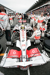 SHIZUOKA, JAPAN - Sunday, October 12, 2008: Lewis Hamilton (GBR, Vodafone McLaren Mercedes) during the Japanese Formula One Grand Prix at the Fuji Speedway. (Photo by Michael Kunkel/Hochzwei/Propaganda)