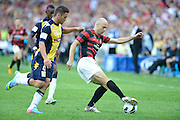 21.04.2013 Sydney, Australia. Wanderers Croatian forward Dino Kresinger in action during the Hyundai A League grand final game between Western Sydney Wanderers FC and Central Coast Mariners FC from the Allianz Stadium.Central Coast Mariners won 2-0.