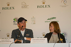 The organizers of the Rolex Grand Slam of Showjumping<br /> In the picture : Jeroen Dubbeldam, Linda Southern-Heathcott, President of the Steering Committee of the Rolex Grand Slam of Show JumpingIndoor Brabant - Den Bosch 2017<br /> © Dirk Caremans<br /> 12/03/2017