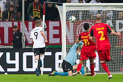 11.10.2011, Esprit Arena, Duesseldorf, GER, UEFA EURO 2012 Qualifikation, Deutschland (GER) vs Belgien (BEL), im Bild Andre Schürrle / Schuerrle (#9 GER, Bayer Leverkusen) trifft zum 2 - 0 // during the UEFA Euro 2012 qualifying round Germany vs Belgium  at Esprit Arena, Duesseldorf 2011-10-11 EXPA Pictures © 2011, PhotoCredit: EXPA/ nph/  Kurth       ****** out of GER / CRO  / BEL ******