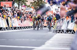 07.07.2019, Wels, AUT, Ö-Tour, Österreich Radrundfahrt, 1. Etappe, von Grieskirchen nach Freistadt (138,8 km), im Bild Zielsprint Emils Liepins (Wallonie Bruxelles, FRA), Pieter Vanspeybrouck (Wanty Groupe Gobert, BEL), Carlos Barbero (Movistar Team, ESP) // during 1st stage from Grieskirchen to Freistadt (138,8 km) of the 2019 Tour of Austria. Wels, Austria on 2019/07/07. EXPA Pictures © 2019, PhotoCredit: EXPA/ JFK