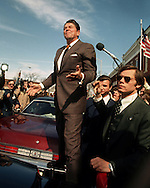 A 30 MG IMAGE OF:..Ronald Reagan in Dixon, Illinois in march of 1976...Photo by Dennis Brack R F