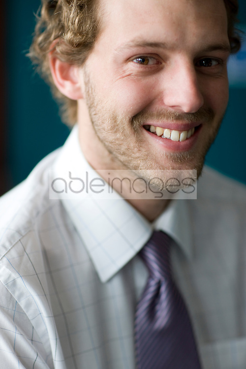 Close up of young businessman