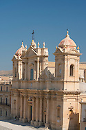 A view of the Duomo (Santa Nicola e Corado) in Noto, a UNESCO World Heritage Site in Sicily, Italy