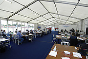 Eton, GREAT BRITAIN,  Press Centre, 2006 World Rowing Championships, 22/08/2006.  Photo  Peter Spurrier, © Intersport Images,  Tel +44 [0] 7973 819 551,  email images@intersport-images.com. Rowing Course, Dorney Lake