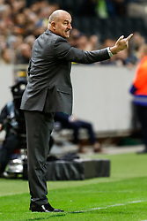 November 20, 2018 - Stockholm, Sweden - Russia head coach Stanislav Cherchesov gestures during the UEFA Nations League B Group 2 match between Sweden and Russia on November 20, 2018 at Friends Arena in Stockholm, Sweden. (Credit Image: © Mike Kireev/NurPhoto via ZUMA Press)
