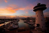 Early morning at the Puerto Vallarta marina Mexico.