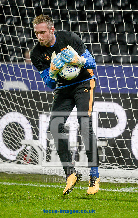 Allan McGregor of Hull City before the Sky Bet Championship match at the KCOM Stadium, Hull<br /> Picture by Matthew Usher/Focus Images Ltd +44 7902 242054<br /> 16/09/2017