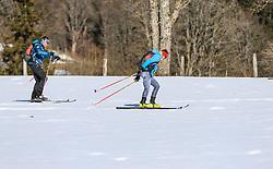 22.03.2018, Ramsau am Dachstein, AUT, Red Bull Der lange Weg, Überquerung Alpenhauptkamm, längste Skitour der Welt, im Bild v. l. David Wallmann (AUT), Philipp Reiter (GER) // during the Red Bull Der lange Weg, crossing of the main ridge of the Alps, longest ski tour of the world, in Ramsau am Dachstein, Austria on 2018/03/22. EXPA Pictures © 2018, PhotoCredit: EXPA/ Martin Huber