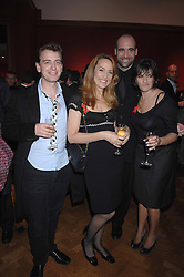 Left to right, SCOTT DOUGLAS, JERRY HALL, RORY McCANN and TRACEY EMIN at the Lighthouse Gala Auction in aid of the Terence Higgins Trust held at Christie's, St.James's, London on 12th March 2007.<br />
