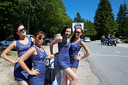 Hostesses during 3rd Stage (219 km) at 19th Tour de Slovenie 2012, on June 16, 2012, in Skofja Loka, Slovenia. (Photo by Matic Klansek Velej / Sportida.com)