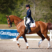 Diane Creech and Devon L during the 2013 Wellington Classic Dressage Sunshine Challenge at the Jim Brandon Equestrian Center in West Palm Beach, Florida.