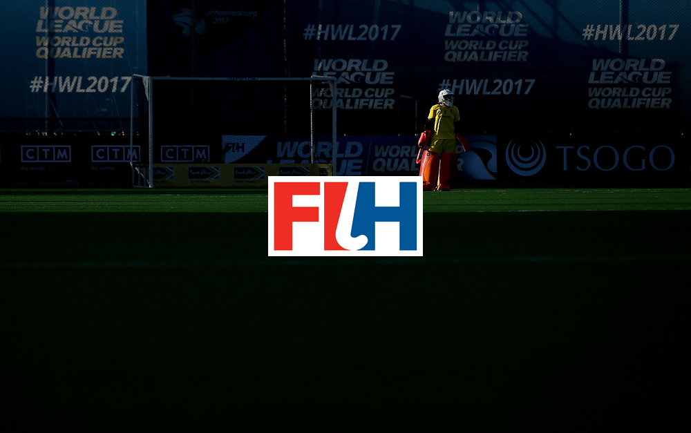 JOHANNESBURG, SOUTH AFRICA - JULY 10:  Maddie Hinch, goalkeeper of England looks on during day 2 of the FIH Hockey World League Semi Finals Pool A match between England and Polandat Wits University on July 10, 2017 in Johannesburg, South Africa.  (Photo by Jan Kruger/Getty Images for FIH)