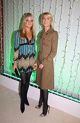 Left to right, LADY ELOISE ANSON and LADY EMILY COMPTON at an exhibition of David Hockney portraits at the National Portrait Gallery sponsored by Burberry on 11th October 2006.<br />