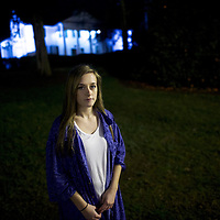 "CLEMSON, SC - FEBRUARY 23:  Hannah Williams, 19, a Clemson University freshman, who is undecided on a presidential candidate, poses for a photo February 23, 2016 in Clemson, South Carolina.  Williams said, ""I'm nervous about voting.  This is the first time I can vote and participate on that large of a scale.  My one little vote won't make that much of a difference, but I feel hopeful.  After Obama was elected two times, any fresh mind would be important for new ideas.  It's time for a change.""  The South Carolina Democratic Presidential Primary is February 27.  Last Saturday, the South Carolina GOP Presidential Primary shattered records with 137,092 more votes cast than in any previous primary.  (Photo by Mark Makela/Getty Images)"