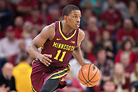 FAYETTEVILLE, AR - DECEMBER 9:  Isaiah Washington #11 of the Minnesota Golden Gophers runs the offense during a game against the Arkansas Razorbacks at Bud Walton Arena on December 9, 2017 in Fayetteville, Arkansas.  The Razorbacks defeated the Golden Gophers 95-79.  (Photo by Wesley Hitt/Getty Images) *** Local Caption *** Isaiah Washington