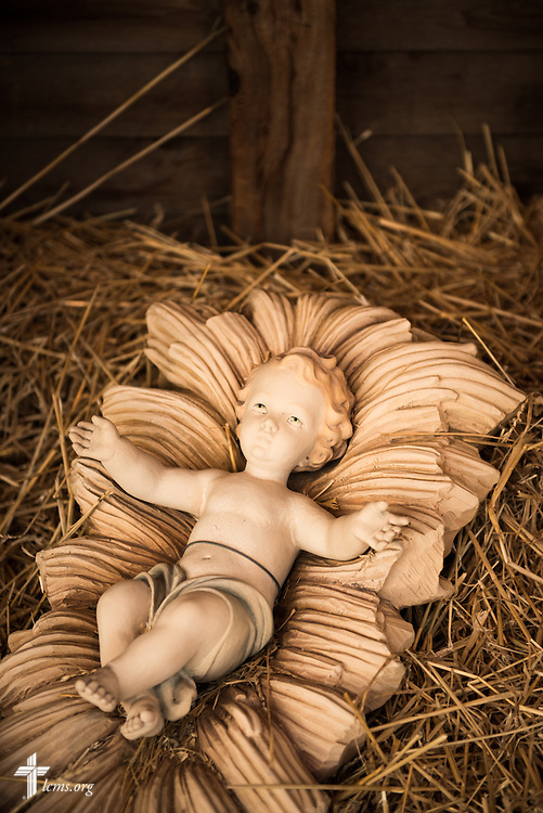 A statue depicting Jesus as a baby in the nativity scene at  Village Lutheran Church on Wednesday, Dec. 10, 2015, in Ladue, Mo.  LCMS Communications/Erik M. Lunsford