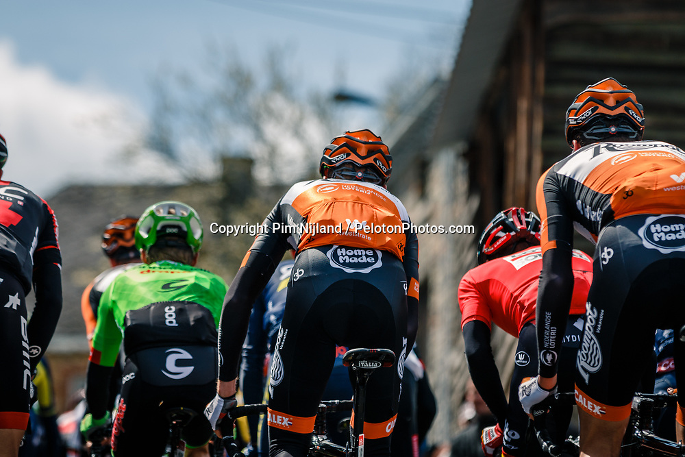 Peloton with riders of Roompot - Nederlandse Loterij during the UCI WorldTour 103rd Liège-Bastogne-Liège from Liège to Ans with 258 km of racing at Cote de Saint-Roch, Belgium, 23 April 2017. Photo by Pim Nijland / PelotonPhotos.com | All photos usage must carry mandatory copyright credit (Peloton Photos | Pim Nijland)
