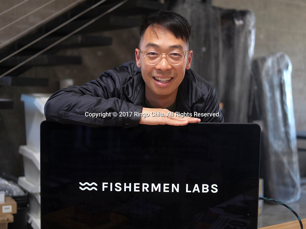 Eden Chen, co-founder of app builder Fishermen Labs.  (Photo by Ringo Chiu)<br /> <br /> Usage Notes: This content is intended for editorial use only. For other uses, additional clearances may be required.
