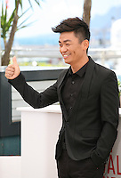 Actor Baoqiang Wang.at the Tian Zhu Ding (A Touch Of Sin) film photocall at the Cannes Film Festival 17th May 2013