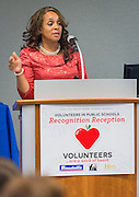 Houston ISD board president Rhonda Skillern-Jones comments Volunteers in Public Schools recognition ceremony, May 14, 2015.