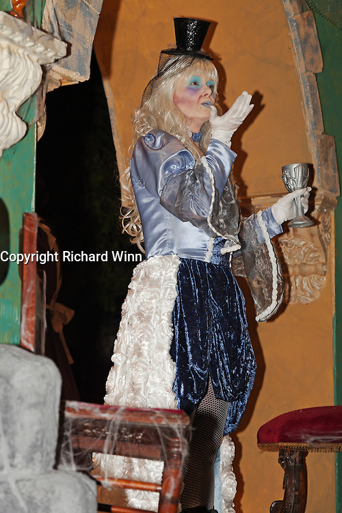 Performer on Boo! Haunted House by Gemini Carnival Club at the 2011 Glastonbury Chilkwell Guy Fawkes Carnival.