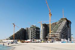 Construction of new luxury apartment building in Dubai United Arab Emirates