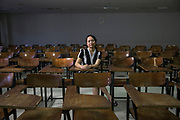 Chalita Bundhuwong, in one of her lecture rooms at Kasetsart University, where she is a professor of Social Science. She has been part of an effort to organize public discussions, lectures and lead campaigns to assist students in understanding the concept of human rights. She is also the Coordinator of the Academic Network for Civil Rights (TANC).