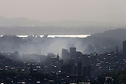 Mt. Namsan. Panoramic view over Han River and Western parts of Seoul.