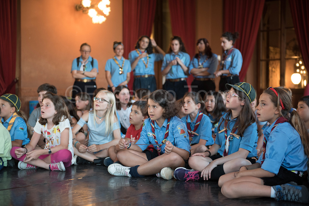 "During the ""night at the theater"", an initiative promoted by the Massimo  theater to get acquainted with the youngest"